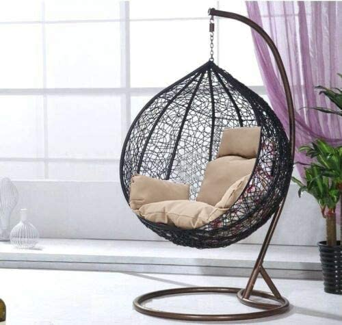 Rattan Garden Egg Hanging Chair (Brown)