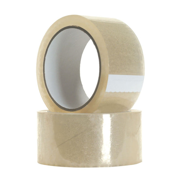 4 Pack Large Clear Packaging Tape - 70mm x 100m