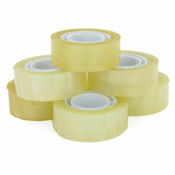 Pack of 8 Clear Sticky Tape (18mm x 30m)