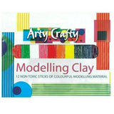Arty Crafty Modelling Clay 12 Strips