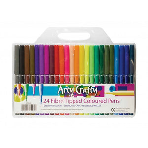 Arty Crafty Felt Tipped Pens 24pk