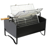 BBQ Grill - 4 Way Rotating Rotisserie with Motor and Fan (Large)
