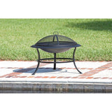 Steel Outdoor Fire Pit Garden Heater (Black)