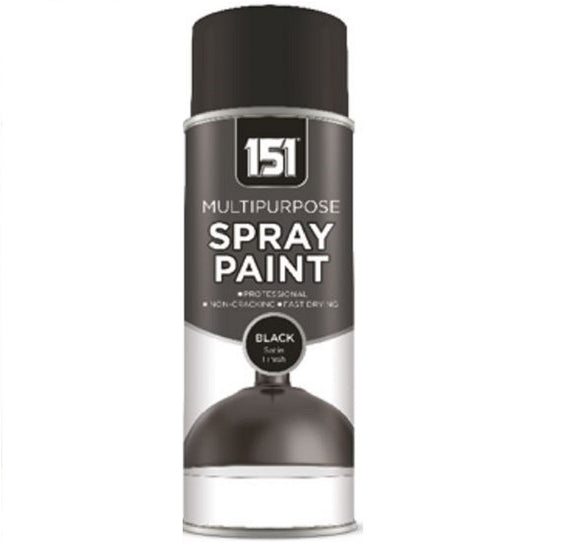 151 Black Satin Spray Paint 400ml