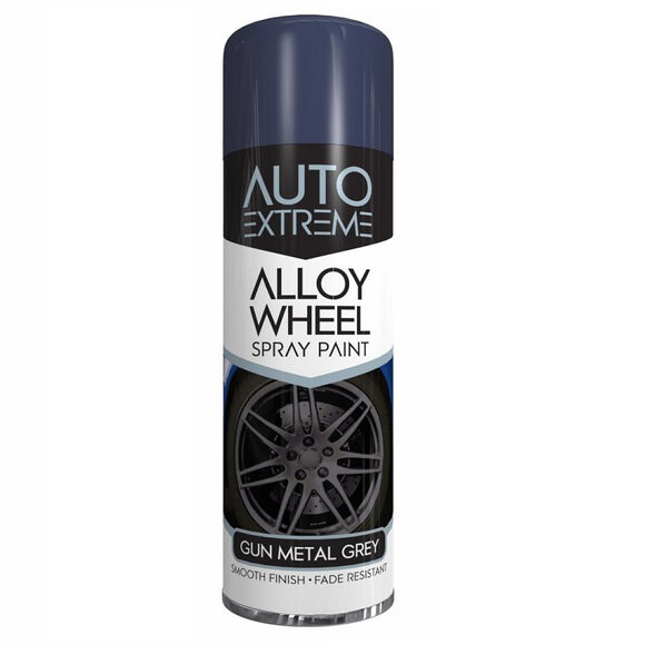 Auto Extreme Gun Metal Grey Alloy Wheel Spray Paint - 300ml