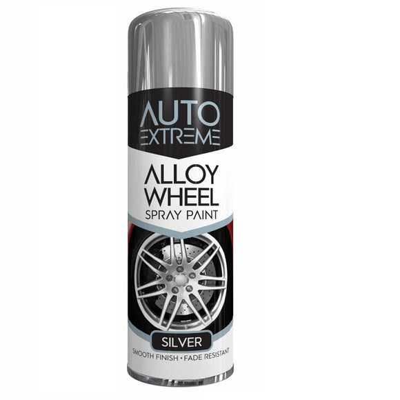 Auto Extreme Silver Alloy Wheel Spray Paint - 300ml