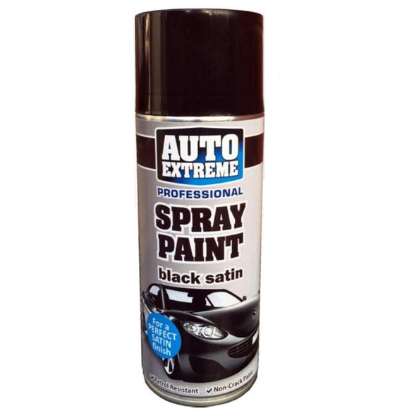 Auto Extreme Black Satin Spray Paint 400ml