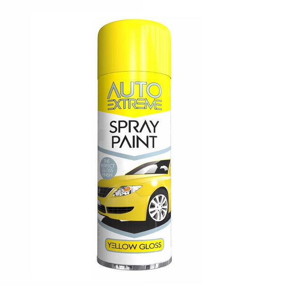 Auto Extreme Yellow Gloss Spray Paint - 250ml