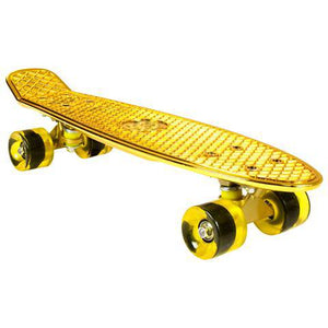 "Chrome Skateboard Cruiser 22"" (Gold)"