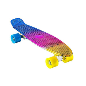"Chrome Skateboard Cruiser 22"" (Rainbow)"