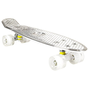 "Chrome Skateboard Cruiser 22"" (Silver)"