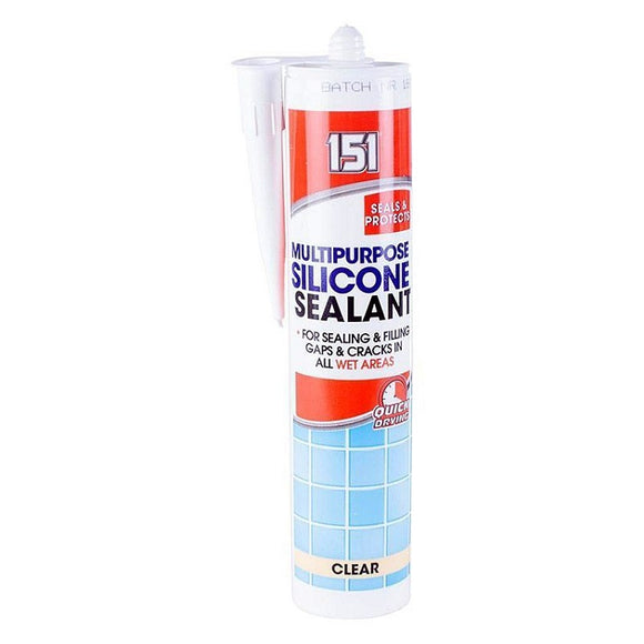 151  Multi Purpose Clear Silicone Sealant - Clear