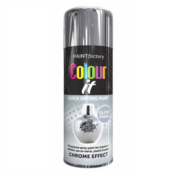 Colour It Chrome Effect Gloss Spray Paint 400ml