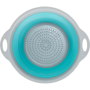 Collapsible Silicone Colander Drainer Light Blue