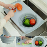 Multi-function Chopping Board and Collapsible Colander