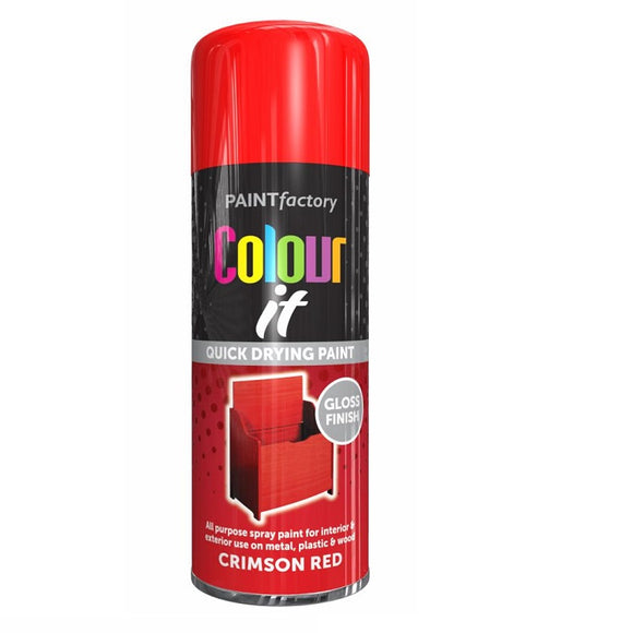 Colour It Crimosn Red Gloss Spray Paint - 400ml
