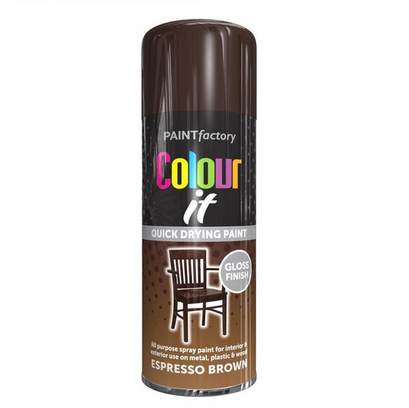 Colour It Espresso Brown Spray Paint 400ml