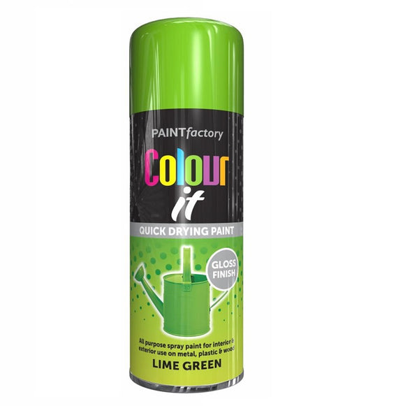 Colour It Lime Green Gloss Spray Paint - 400ml