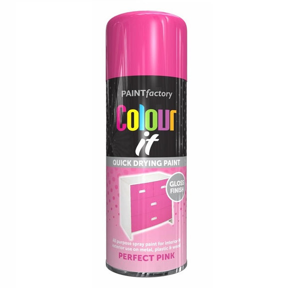 Colour It Perfect Pink Gloss Spray Paint 250ml