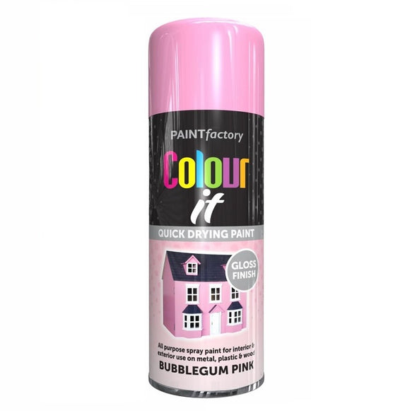 Colour It Bubblegum Pink Gloss Spray Paint 400ml
