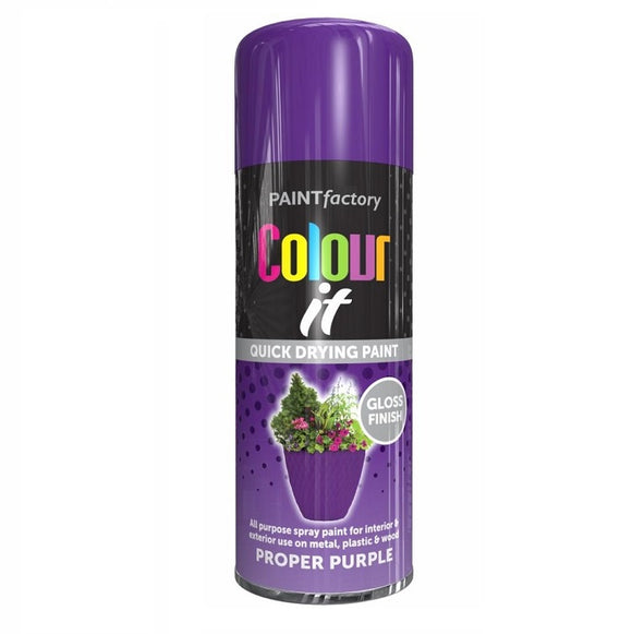 Colour It Proper Purple Gloss Spray Paint 400ml