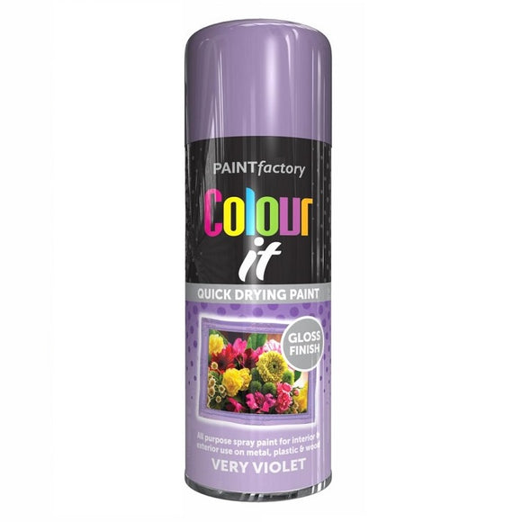 Colour It Very Violet Gloss Spray Paint 400ml
