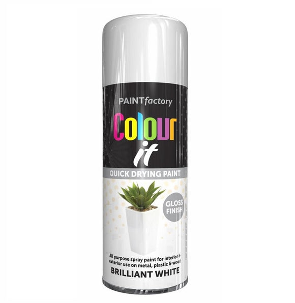 Colour It White Gloss Spray Paint 250ml