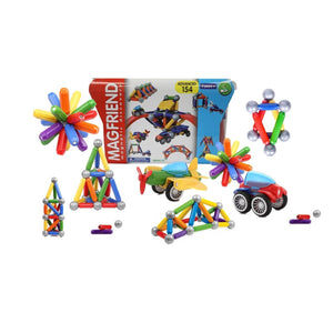 MAGFRIEND Magnetic Toy Building Blocks Construction Kit (61 Pieces)