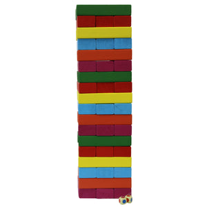 Kids Love Play - Super Size Jenga Colourful Tower Blocks