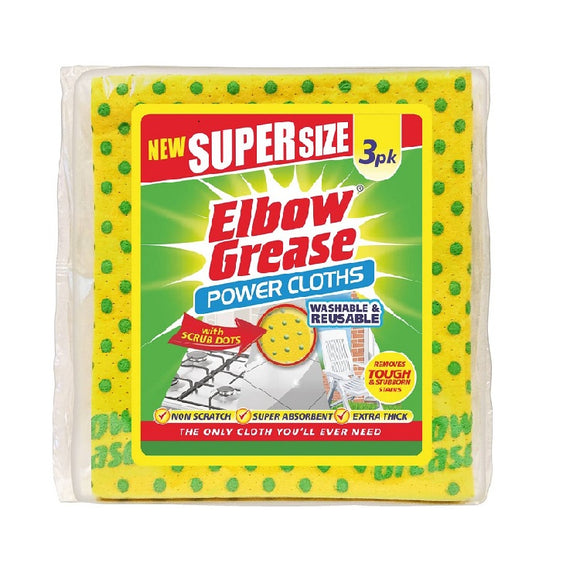 Elbow Grease Super Size Cleaning Cloths (3PK)