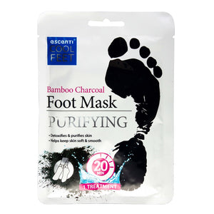 Escenti Foot Mask Bamboo Charcoal