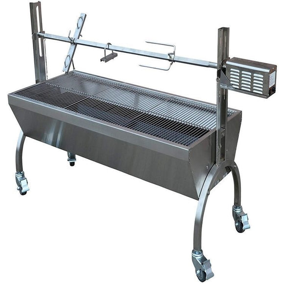 Commercial BBQ Grill with Spit Roaster (Stainless Steel)
