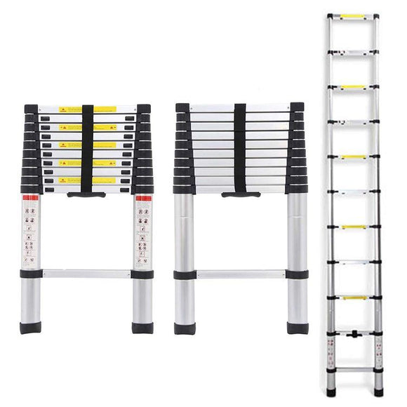 2.6m Aluminium Telescopic Extendable Ladder