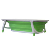 Flat Foldable Baby Bath Tub (Green)