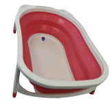 Flat Foldable Baby Bath Tub (Pink)