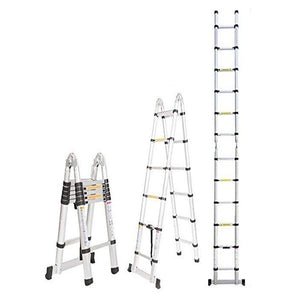 3.8m Aluminium Telescopic Folding Ladder