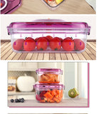 Air Tight Food Preservation Container (1.1L+2.2L) (Violet)