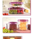 Airtight Food Preservation Storage Container (1.3L+2.6L) (Violet)