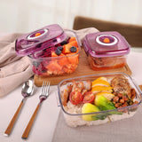 Airtight Food Preservation Storage Container (1L+2L) (Violet)