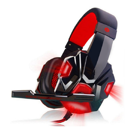 Gaming Headset with Mic (Red)