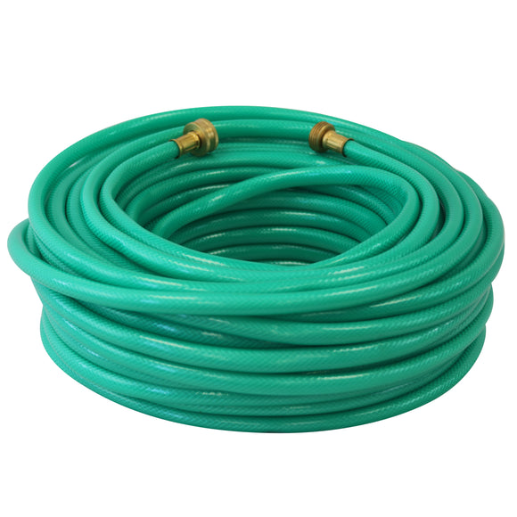 50m Garden Hose Pipe with Copper Connector (Green)