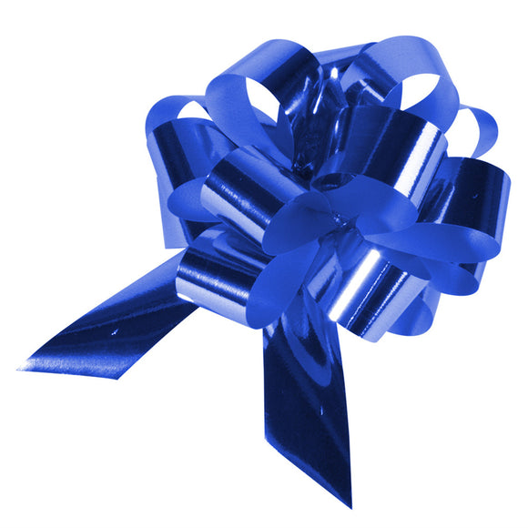 10 Piece Gloss Gift and Floristry Bow (Blue)