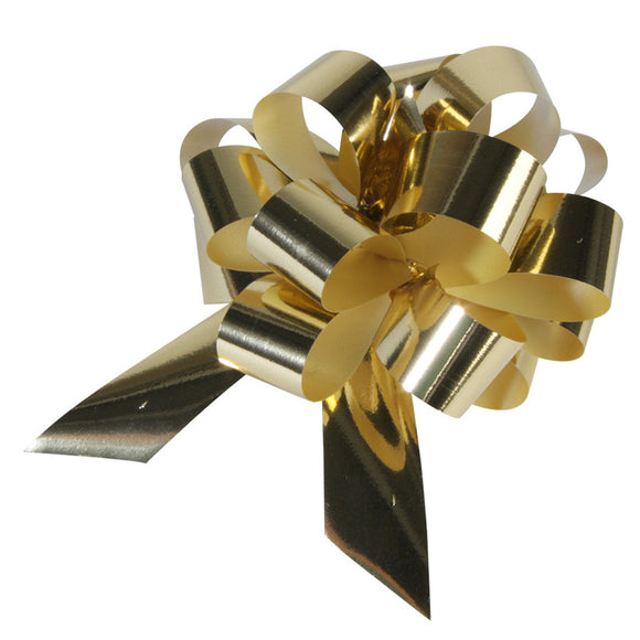 10 Piece Gloss Gift and Floristry Bow (Gold)