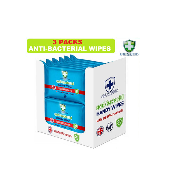 Green Shield Antibacterial Wipes (3PK)