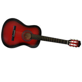 95cm Wooden Acoustic Guitar with 6 Strings (Red)