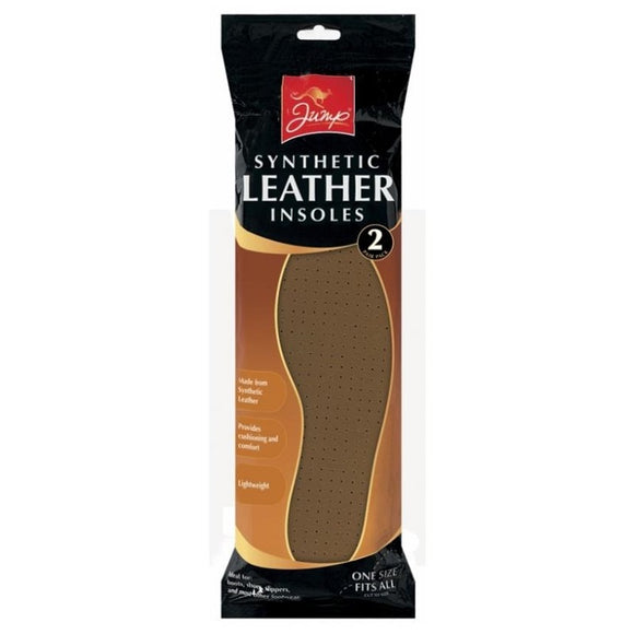JUMP Synthetic Leather Shoe Insoles 2pk