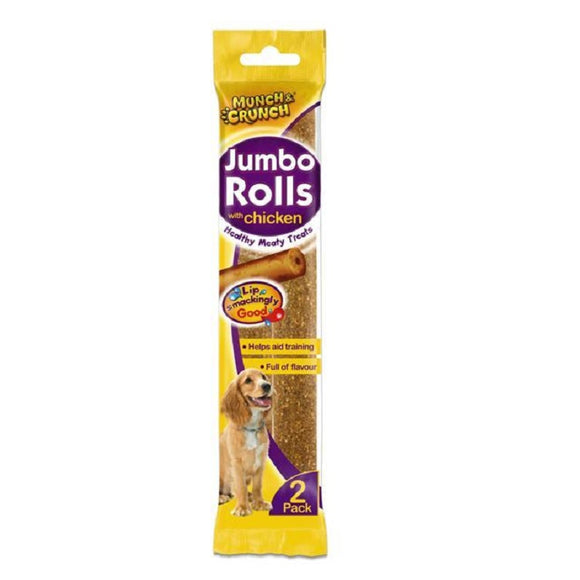 Munch Crunch Jumbo Rolls With Chicken 2pk