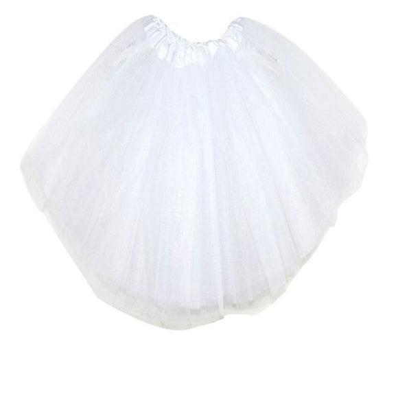 Kids Tutu Skirt (White)