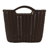 Medium Rattan Effect Storage Basket (Brown)