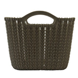 5 Pack Medium Rattan Effect Storage Basket (Olive)